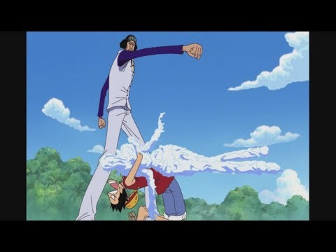 Luffy Saves Robin And Challenges Aokiji (Dub)