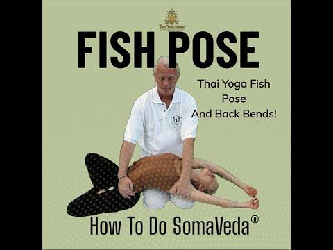 somaveda thai yoga fish pose and back bend with aachan