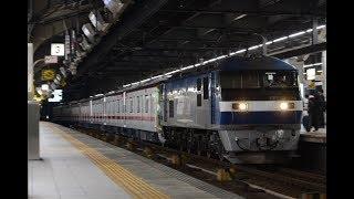 甲種輸送 EF210 156号機+東武70000系(71706F) 名古屋駅通過