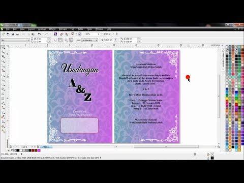 CorelDRAW X6  | TUTORIAL - Membuat Undangan Pernikahan Dua Lipat  (Bahasa Indonesia)