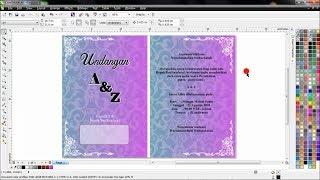 CorelDRAW X6    TUTORIAL - Membuat Undangan Pernikahan Dua Lipat  (Bahasa Indonesia)