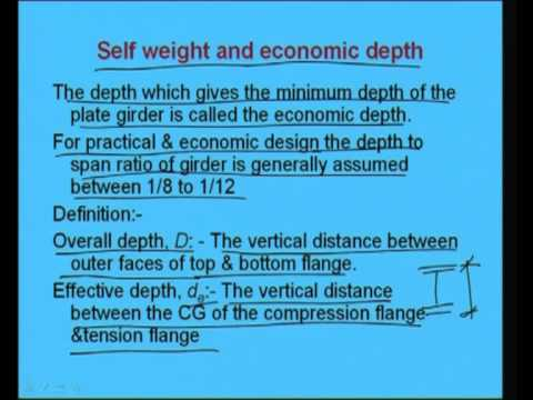 Introduction to Plate Girders - Part 1' Video Lecture - Design of