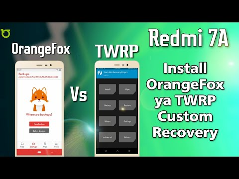 How To Install TWRP/OrangeFox Custom Recovery In Redmi 7A Device - Root/No Root | Easy Steps