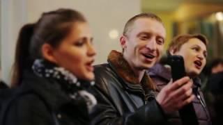 Флеш-моб на вокзале в Запорожье. Весна на Заречной улице(Please watch: