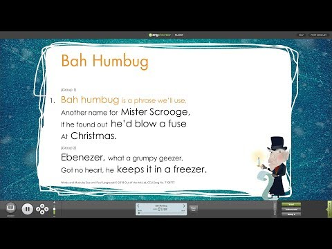 Bah Humbug from Bah Humbug! Musical with Words on Screen™