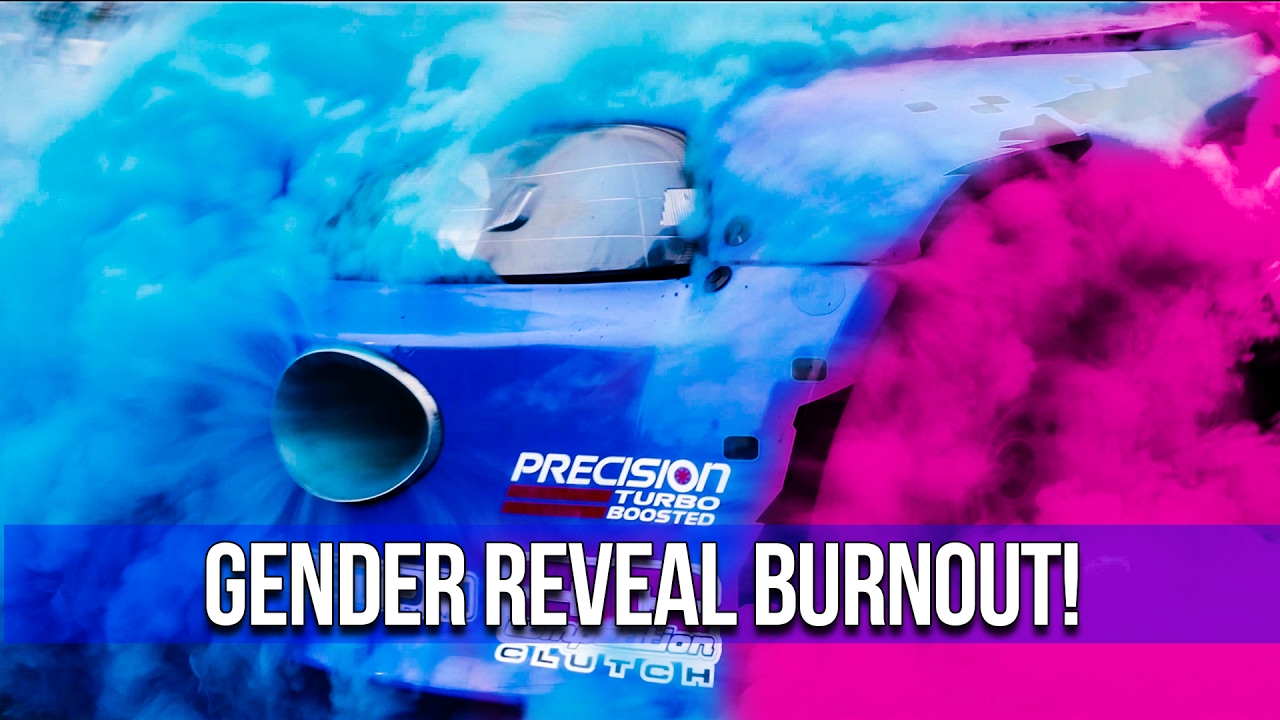 gender reveal burnout at speedfactory racing