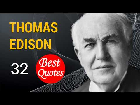 "🔴 The 32 Best Quotes by Thomas Edison ✅ ""There is far more opportunity than there is ability."""