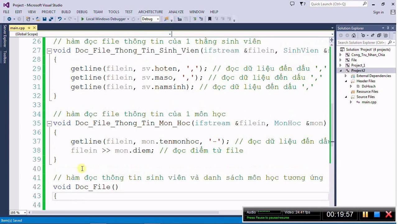 [Lập trình C/C++] Bài 55. Đọc – ghi file Thông tin sinh viên và Danh sách môn học(Phần 1)