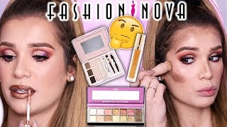 FULL FACE Testing FASHION NOVA Makeup... Worth the Hype?