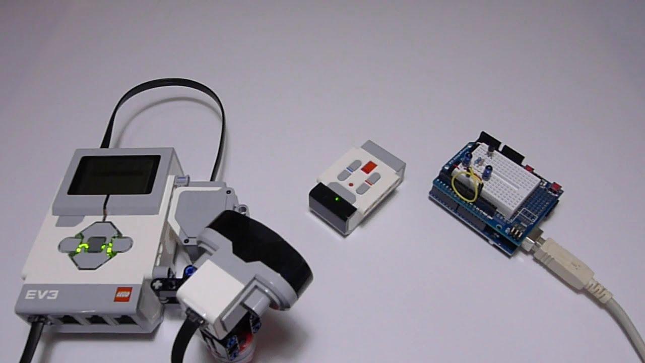 Transmit lego ev ir beacon signal using arduino youtube