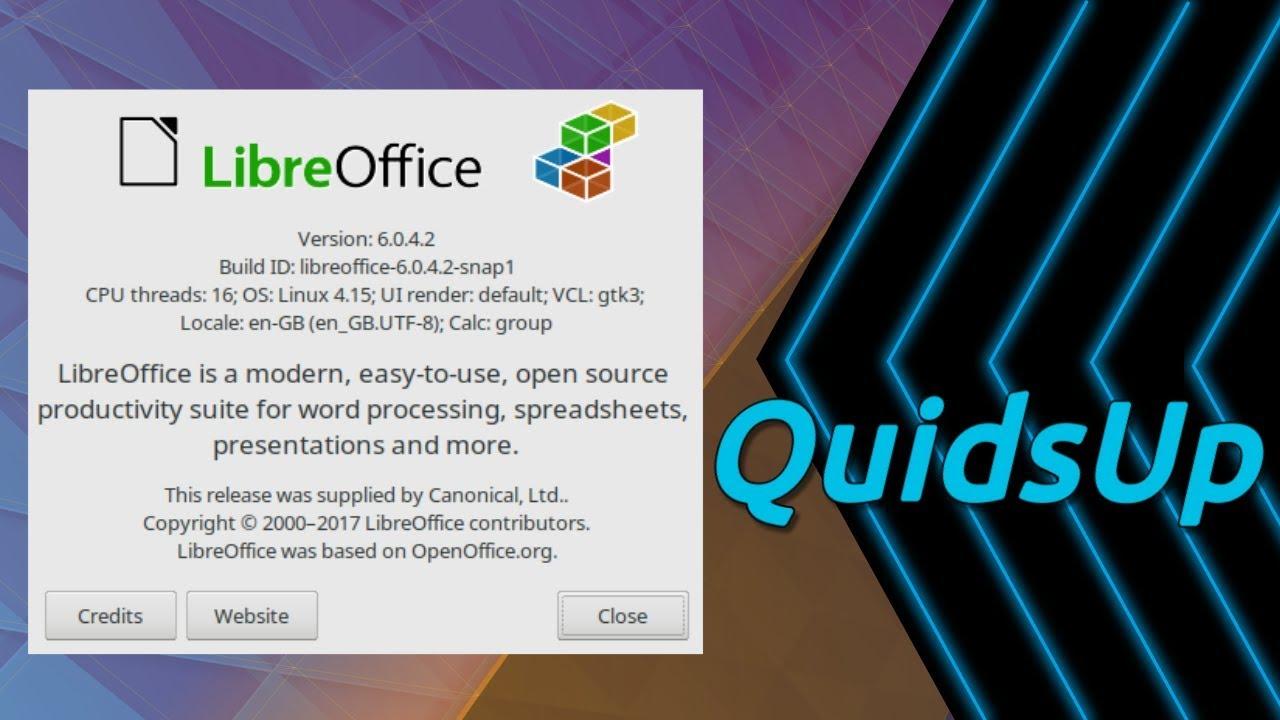 Quick Look at LibreOffice as a Snap in Kubuntu 18 04