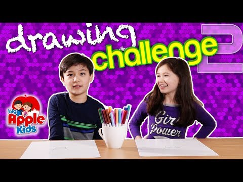 DRAWING CHALLENGE - What can you do with this shape?  | Big Apple Kids