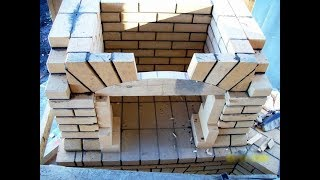 видео Как построить мангал из кирпича своими руками: все про кирпичный мангал