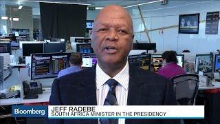 South Africa's Jeff Radebe Talks Vision 2030 Economic Plan