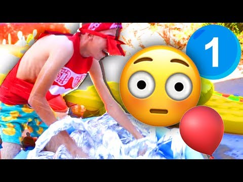 5 SLIME Pools Challenge! - Game 1   The Backyard Emoji Games