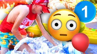 5 SLIME Pools Challenge! - Game 1 | The Backyard Emoji Games