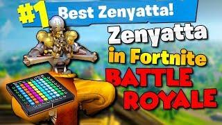 Using an Overwatch Zenyatta Soundboard in Fortnite Battle Royale Squads!! (Fortnite BR Trolling)