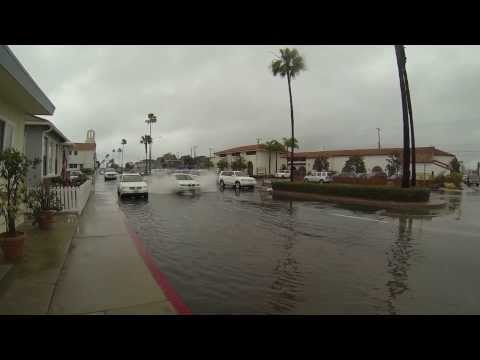 Flooded streets in Newport Beach 02-28-2014