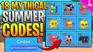 18 MYTHICAL SUMMER CODES IN ROBLOX MINING SIMULATOR! *FREE MYTHICAL SCYTHE*