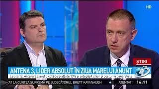 Baixar Antena 3, lider absolut în ziua revocării lui Kovesi