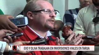 01/09/15  14:51 EVO Y OLIVA TRABAJAN EN INVERSIONES VIALES EN TARIJA