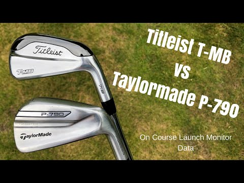 Taylormade P-790 vs Titleist 718 T-MB - Battle of the POWER IRONS (Launch Monitor on course test)