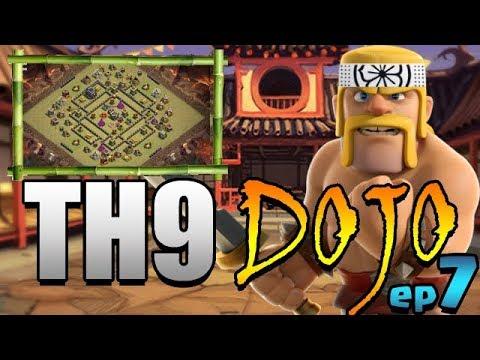 HITTING MAX HEROES!  TH9 Dojo Ep7 | Clash Of Clans
