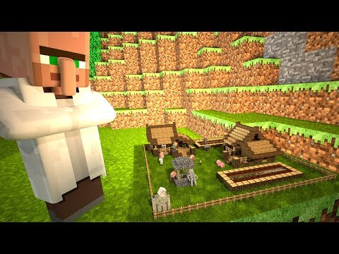 Minecraft Animation - Mysterious Tiny World of Villagers