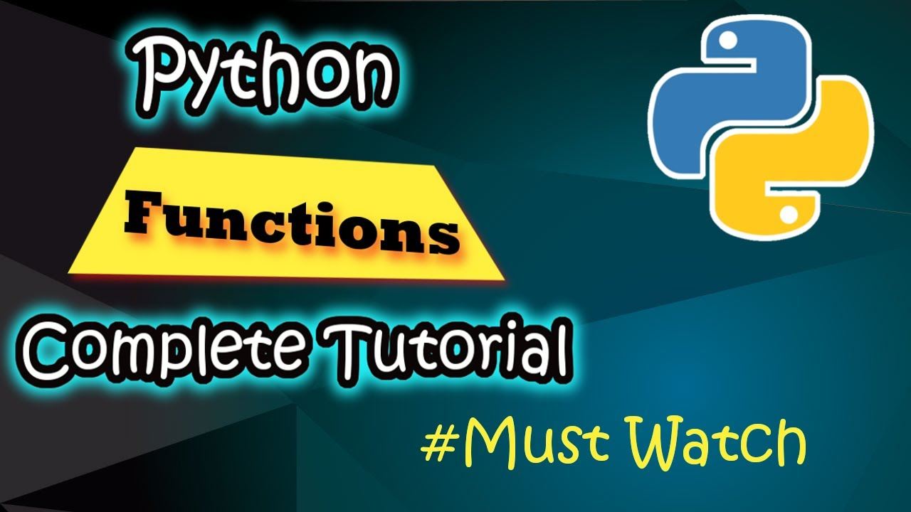Python Functions Complete Tutorial 🔥🔥    Code Myth   YouTube
