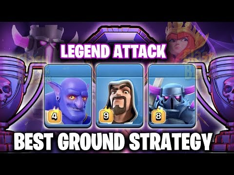Legend Trophy Push Attack - Best Ground Strategy 2019 -Hit To Top -Clash Of Clans