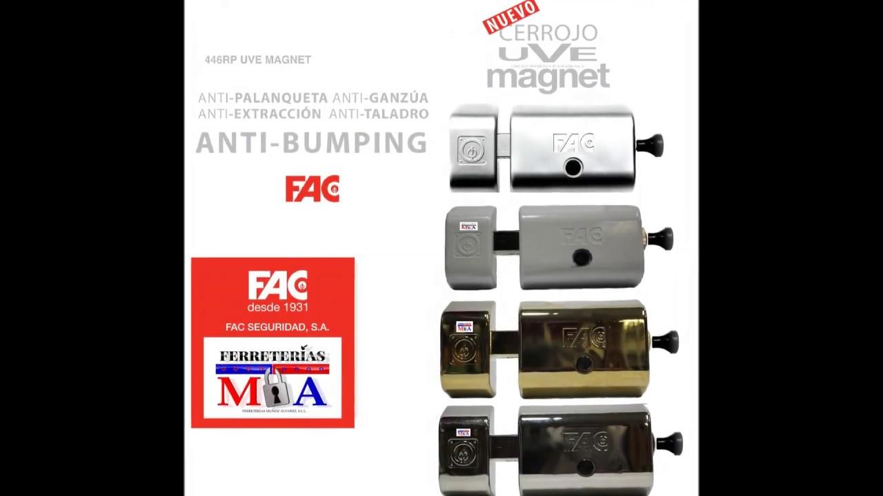 Video Instalación Cerrojo Fac Uve Magnet Anti Bumping Ferreterias Muñoz Alvarez