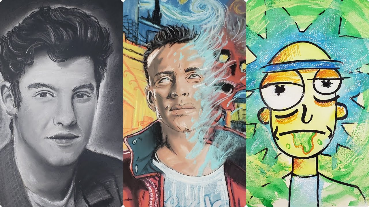 Drawing Logic, Rick and Morty, and Shawn Mendes | Art Compilation #004