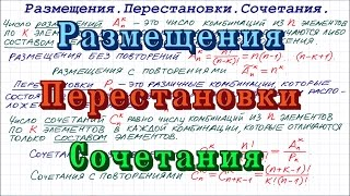 Комбинаторика: размещения, перестановки, сочетания