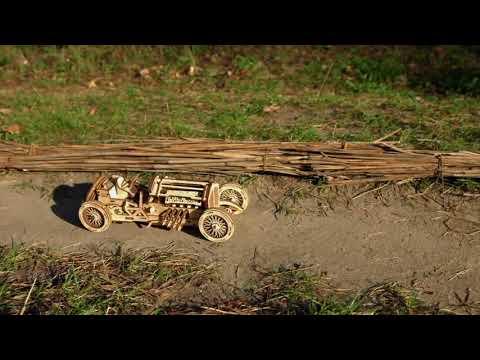 Bolide U 9 « Grand Prix » – Puzzle 3d Mécanique en bois – Ugears Models France