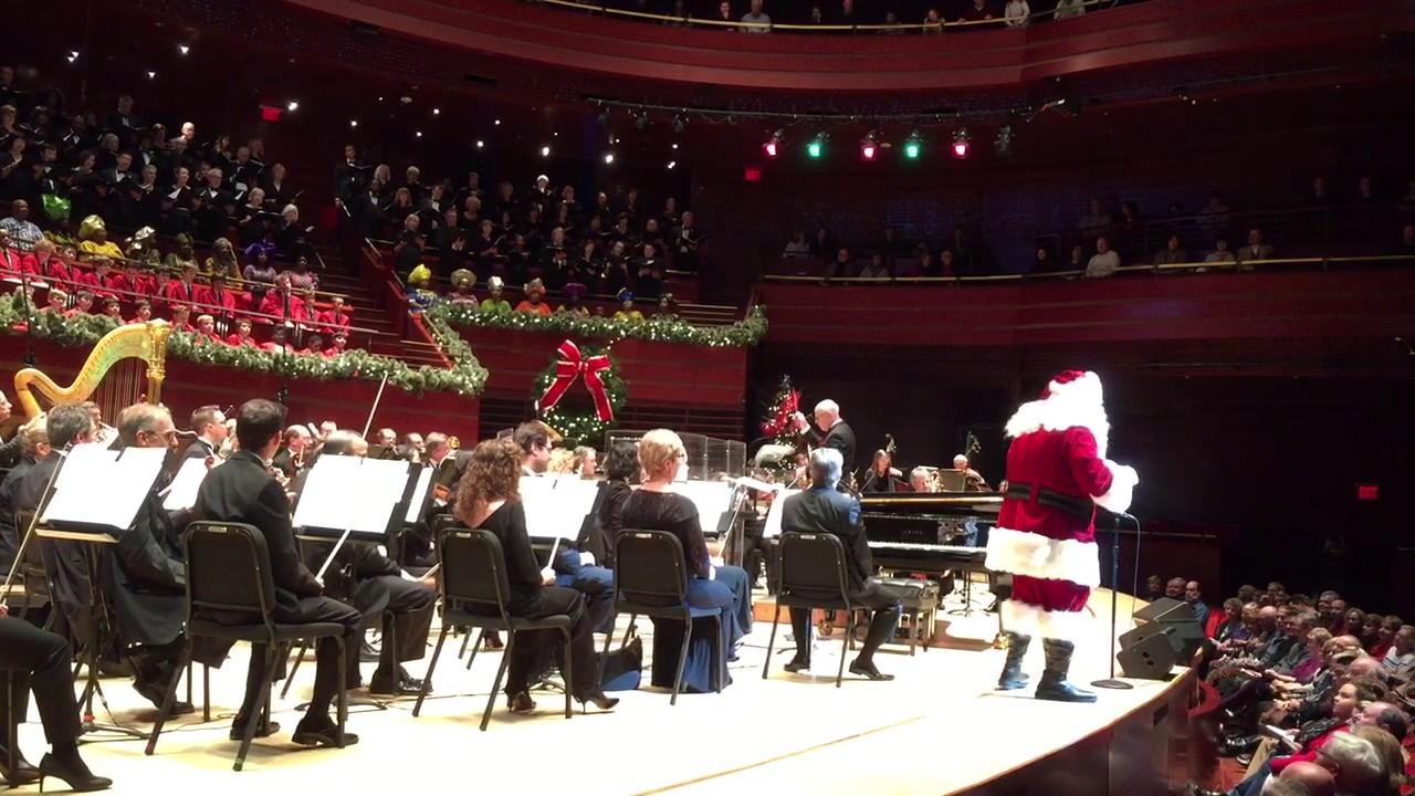 santa sings at a philly pops christmas