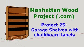25 - Workshop Shelves - Manhattan Wood Project