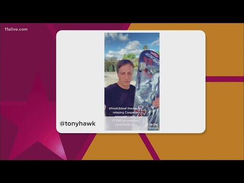 FedEx driver helps connect Suwanee kid to Tony Hawk