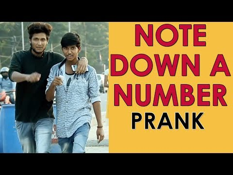 Please Note Down A Number Prank in Hyderabad | Telugu Comedy Pranks | Hyderabad Pranks | FunPataka