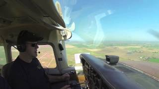"""Pauly Parker """"Learning to Fly"""" Cessna 172,  April 26 2013,  Flying the approach."""
