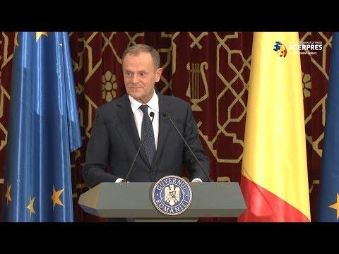 #Romania2019.eu/Tusk: România va acţiona în spiritul proverbului 'Omul sfinţeşte locul'