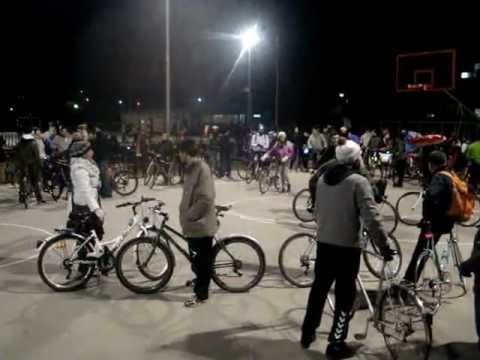 Critical Mass 10 Skopje finish line at the Vlae sport fields