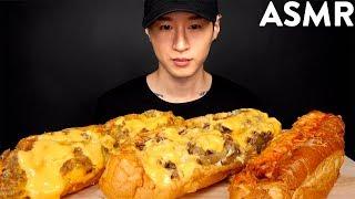 ASMR CHEESY PHILLY CHEESESTEAK MUKBANG (No Talking) EATING SOUNDS  Zach Choi ASMR