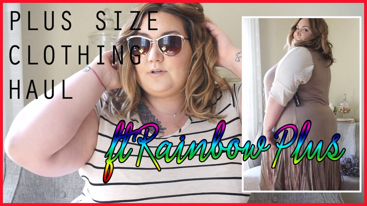 Try On Haul With RainbowShops.com | Fat Fashion - YouTube