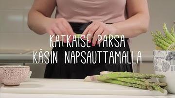 Näin onnistut: Vihreän parsan keittäminen