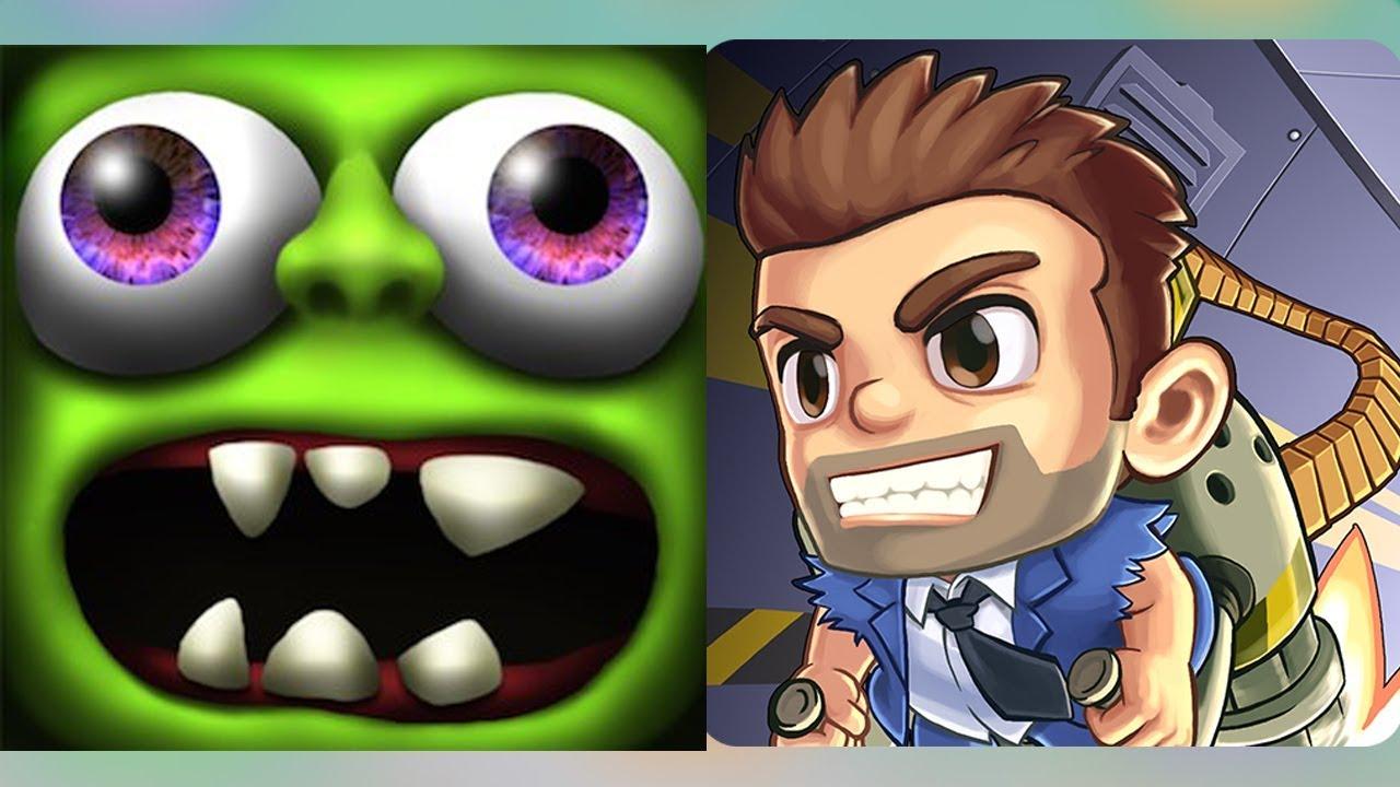 Gameplay zombie tsunami vs Jetpack - Play Fun Games