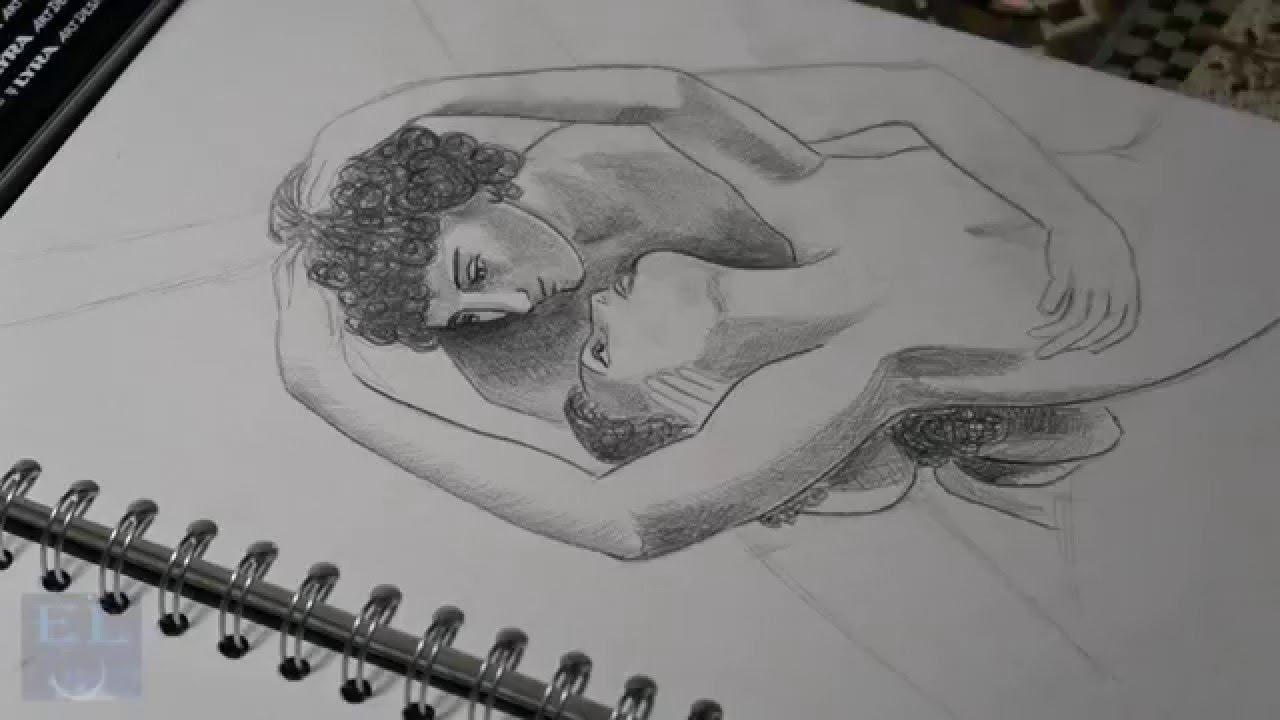 Lc Speed Art Amore E Psiche Chiaroscuro A Matita By Chiara