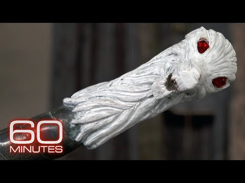 "Kit Harington shows off the ""Game of Thrones"" prop collection on ""60 Minutes"""