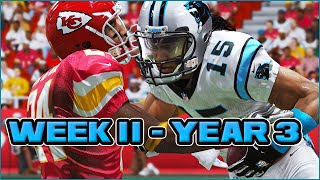 Madden 15 Panthers Connected Franchise - Week 11 @ Chiefs (Season 3)