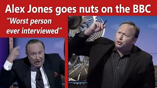 Alex Jones goes nuts on the BBC and host calls him an idiot &