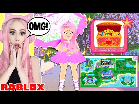 Reacting To DIVINA PARK! Royale High's Brand NEW REALM! + NEW Chest Locations! Roblox Royale High